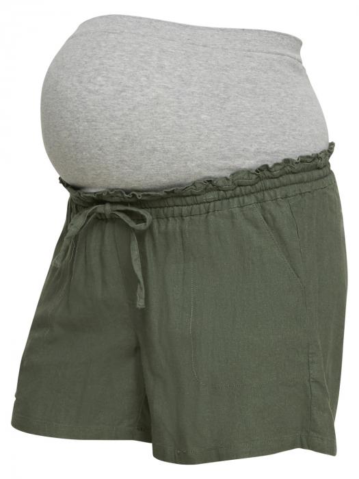 Pantaloni scurți gravide din in Mamalicious Linen Woven 3