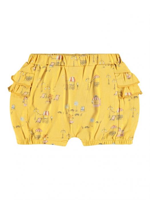 pantaloni-scurti-bebe-bumbac-organic-fete-name-it-bloomer-ochre [0]