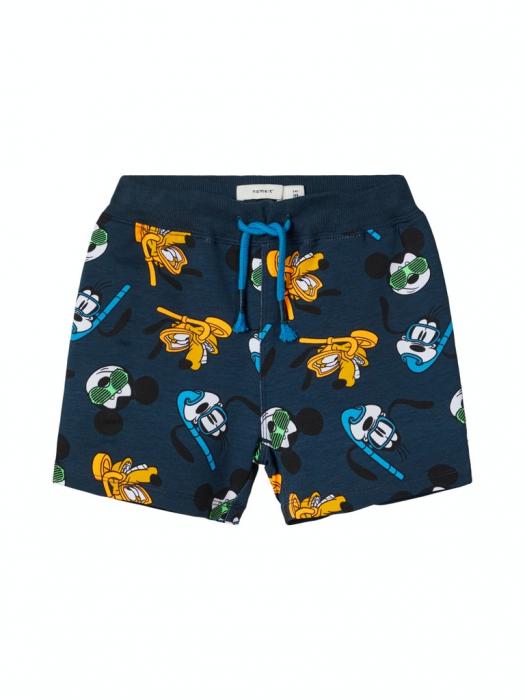 pantaloni-scurti-copii-bumbac-organic-baieti-name-it-mickey 0