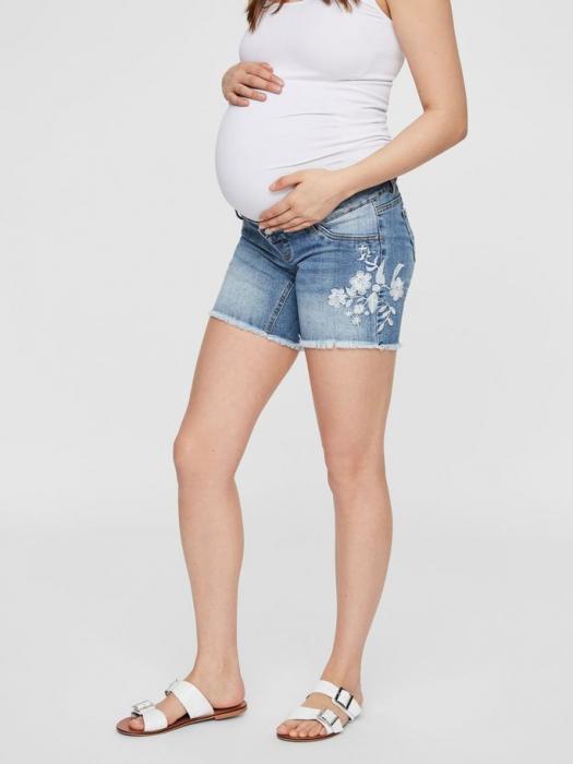 Pantaloni scurti de blugi pentru gravide Mamalicious Chelsea 4