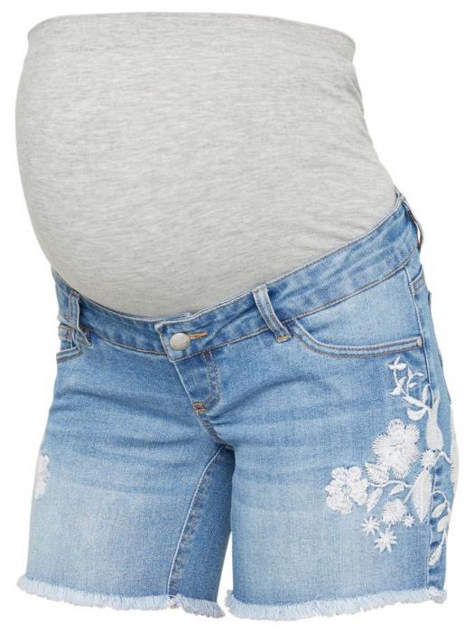 Pantaloni scurti de blugi pentru gravide Mamalicious Chelsea 1