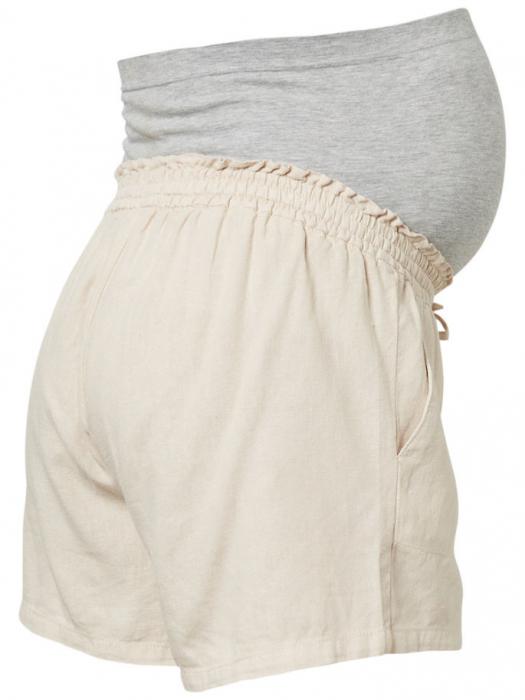 pantaloni-scurti-din-in-pentru-gravide-mamalicious-linen 5