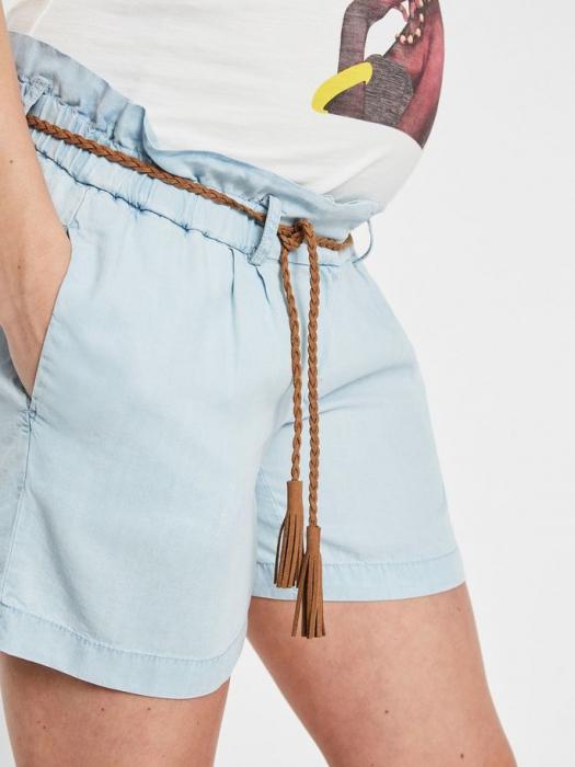pantaloni-scurti-pentru-gravide-din-lyocell-mamalicious-adora 2