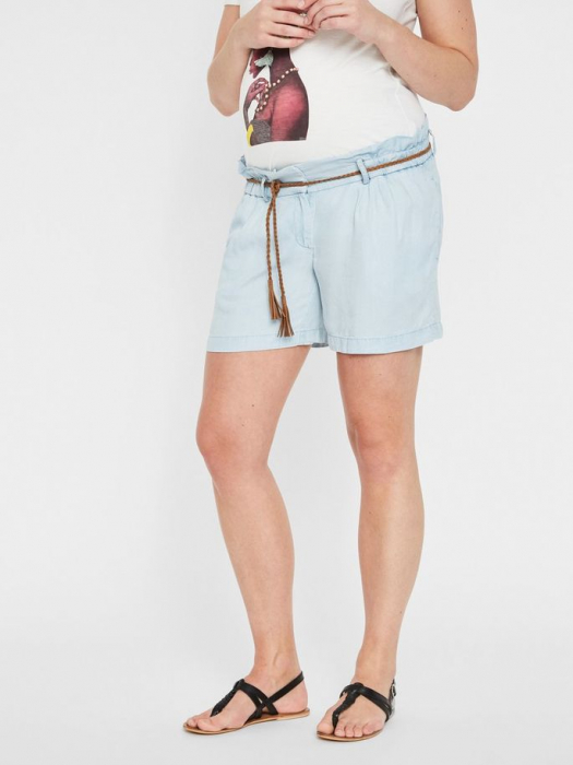 pantaloni-scurti-pentru-gravide-din-lyocell-mamalicious-adora 1