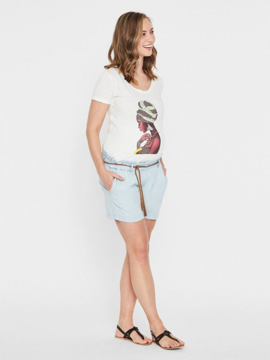 pantaloni-scurti-pentru-gravide-din-lyocell-mamalicious-adora 0