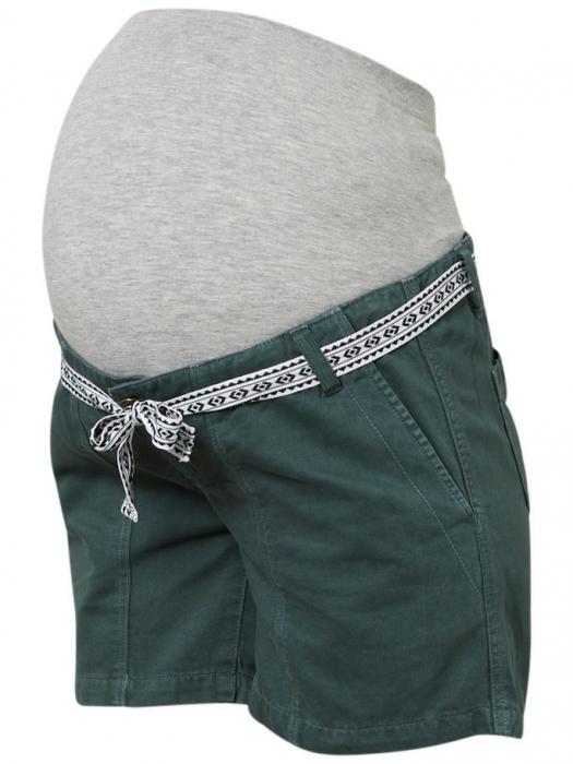 pantaloni-scurti-pentru-gravide-mamalicious-cancun-din-twill 1