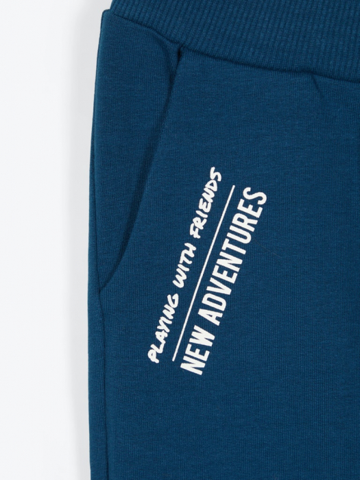 pantaloni-trening-copii-bumbac-organic-baieti-name-it-lanis-albastru 2