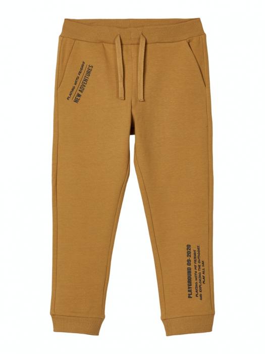 pantaloni-trening-copii-bumbac-organic-baieti-name-it-lanis-mustar 0