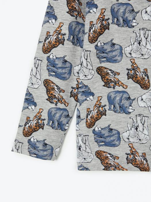 pijama-baieti-bumbac-organic-ani 3