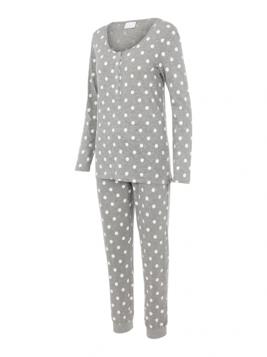pijama-gravide-bluza-si-pantalon-bumbac-organic-mamalicious-rib 7