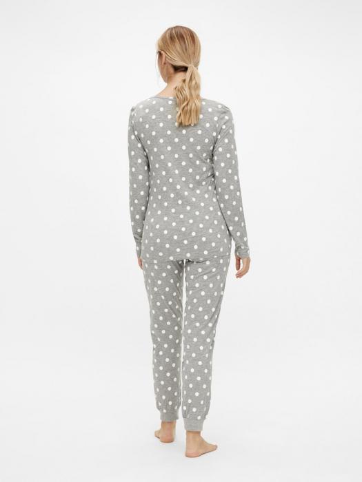 pijama-gravide-bluza-si-pantalon-bumbac-organic-mamalicious-rib 4