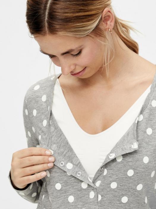 pijama-gravide-bluza-si-pantalon-bumbac-organic-mamalicious-rib 2