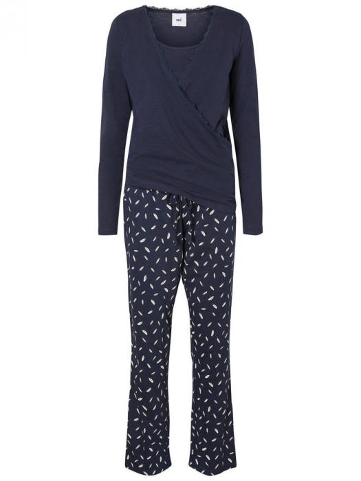 Pijama gravide si alaptare din bumbac organic Mamalicious Chill 8