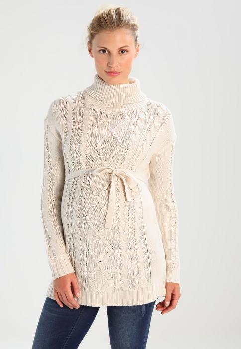 Pulover pentru gravide Mamalicious Cable-tricotat 0