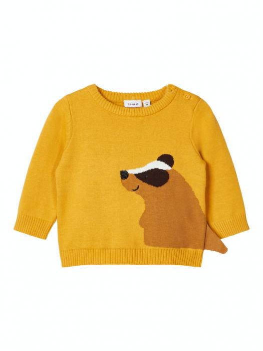 pulover-tricotat-bebelusi-bumbac-organic-baieti-name-it-nadimme 0