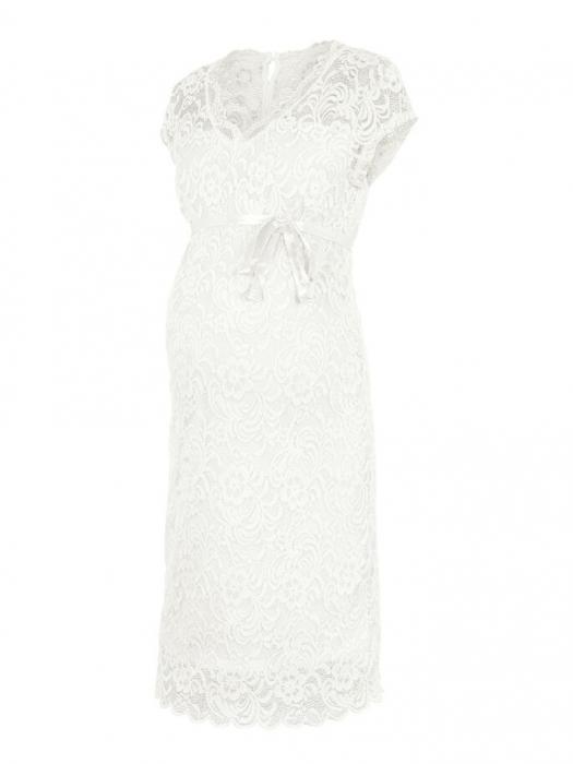 rochie-cu-maneca-scurta-pentru-cununie-mamalicious-snow-white 5