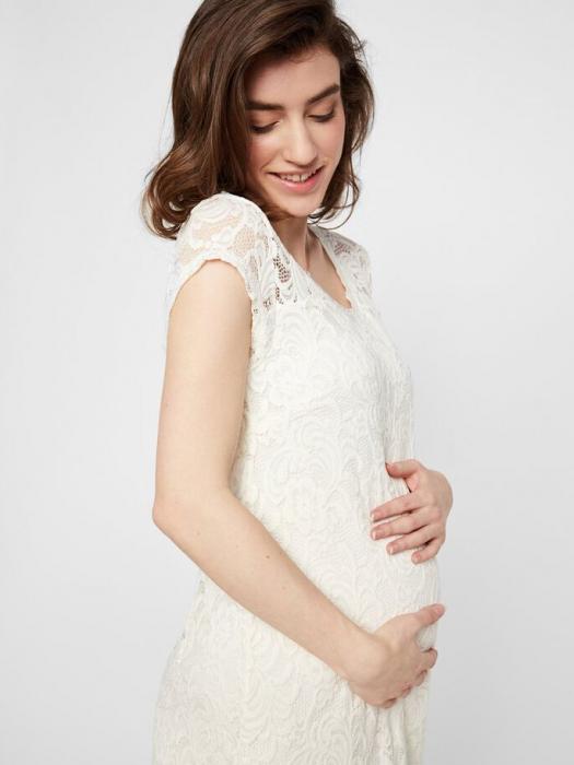 rochie-cu-maneca-scurta-pentru-cununie-mamalicious-snow-white 3