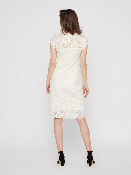 rochie-cu-maneca-scurta-pentru-cununie-mamalicious-snow-white 2