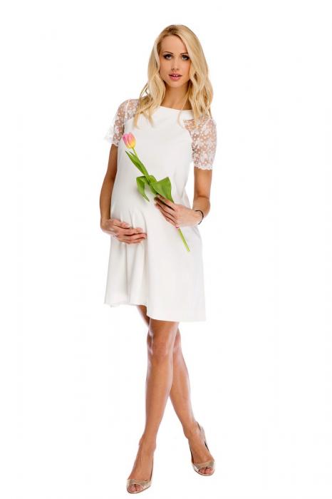Rochie eleganta de gravide pentru cununia civila Julia 0