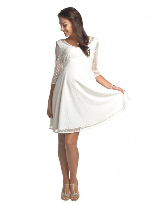 Rochie eleganta gravide Marina Ivory 0