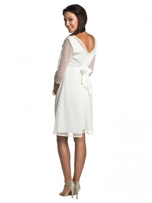 Rochie eleganta gravide Marina Ivory 2