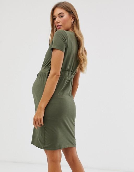 Rochie gravide bumbac organic Mamalicious Annabell 1