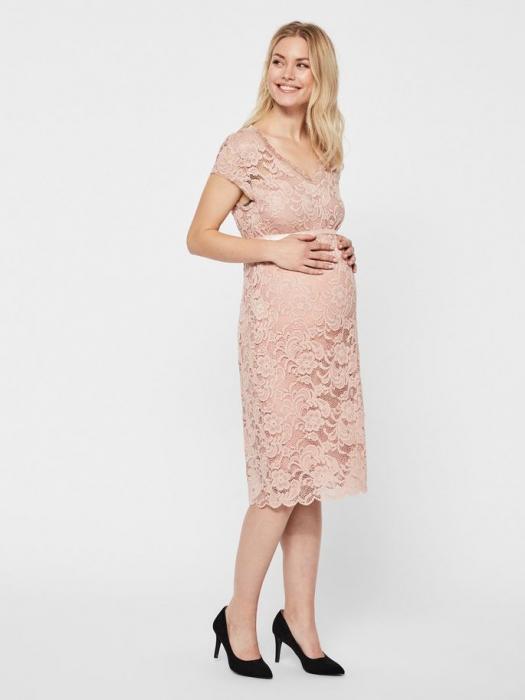 Rochie gravide cununie civila Mamalicious Mivana Rose 0