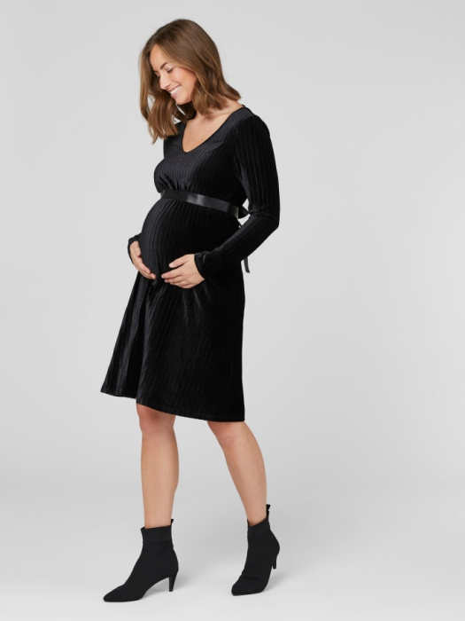 Rochie-gravide-eleganta-din-velour-Claudia 2