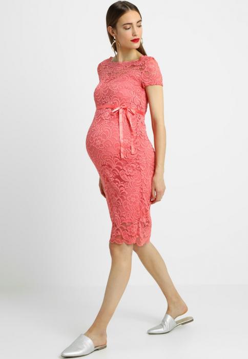 Rochie gravide Mivana Sunkist-Coral