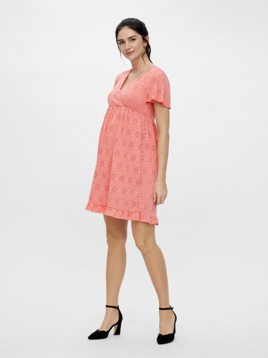 rochie-gravide-si-alaptare-mamalicious-denise-coral 1