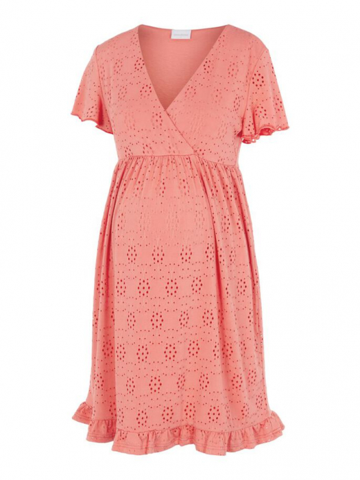 rochie-gravide-si-alaptare-mamalicious-denise-coral 5