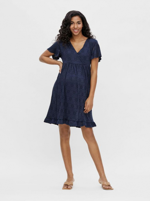 rochie-gravide-si-alaptare-mamalicious-denise-navy 1