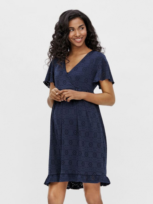 rochie-gravide-si-alaptare-mamalicious-denise-navy 0