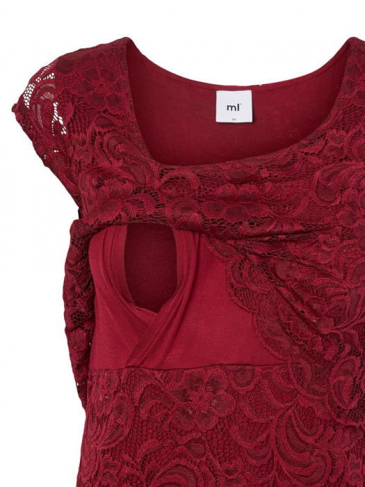 Rochie gravide si alaptare Mamalicious Mivane June Red Plum [1]