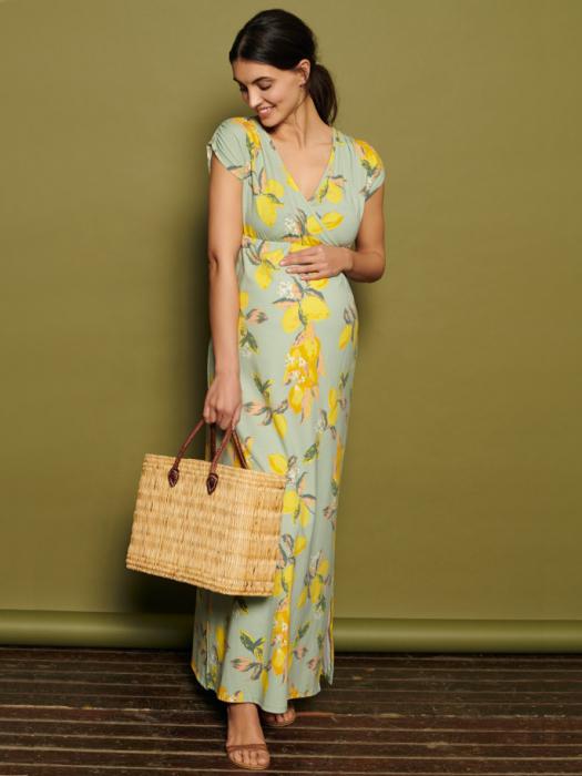 Rochie lunga pentru gravide Mamalicious Lemon 0
