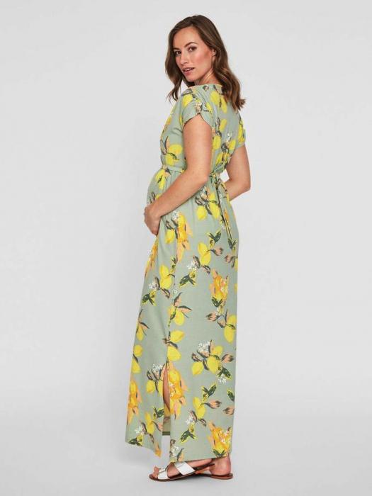 Rochie lunga pentru gravide Mamalicious Lemon 3