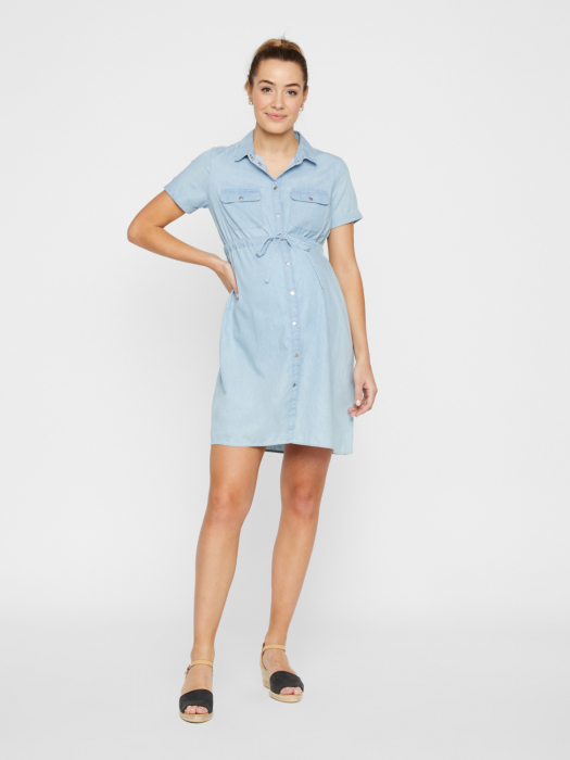 Rochie tip camasa pentru gravide si alaptare Mamalicious Xandra 0