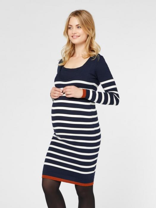 rochie-tricotata-pentru-gravide-si-alaptare-kenna 1