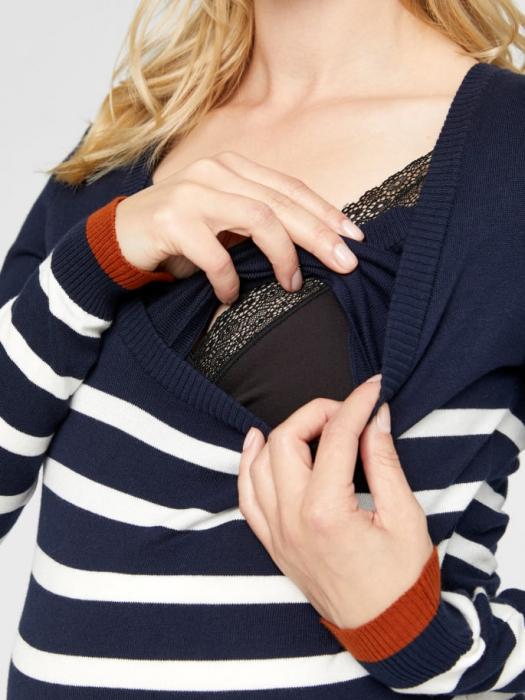 rochie-tricotata-pentru-gravide-si-alaptare-kenna 3