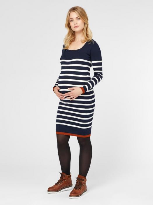rochie-tricotata-pentru-gravide-si-alaptare-kenna 0