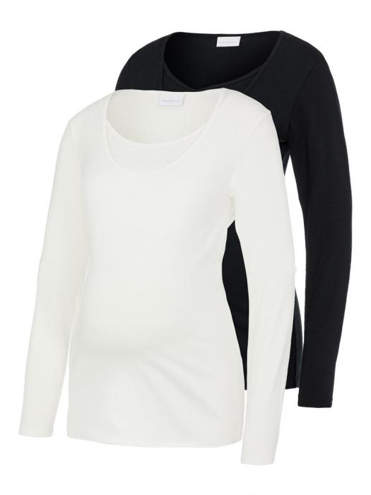 set-2-bluze-gravide-si-alaptare-mamalicious-nell-alb-negru [0]