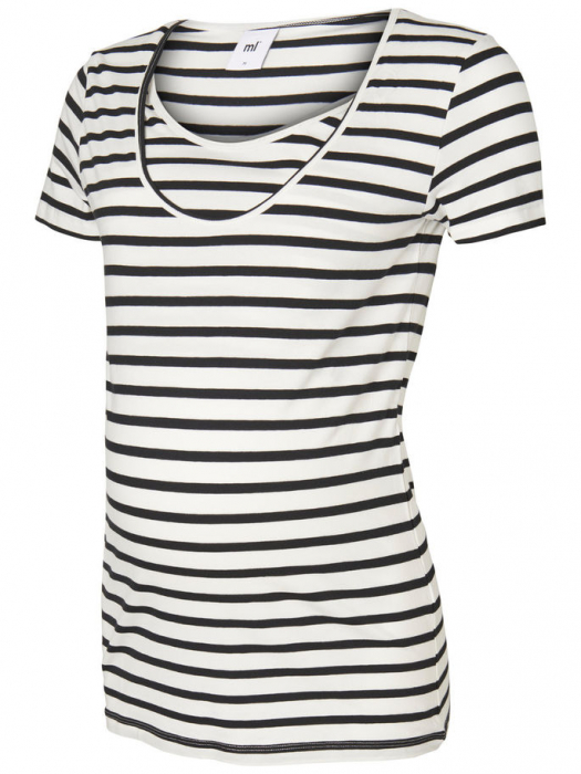 Set 2 tricouri navy pentru gravide si alaptare Mamalicious Nell 4