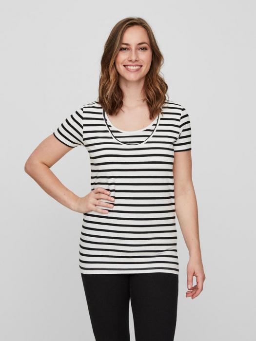 Set 2 tricouri navy pentru gravide si alaptare Mamalicious Nell 2