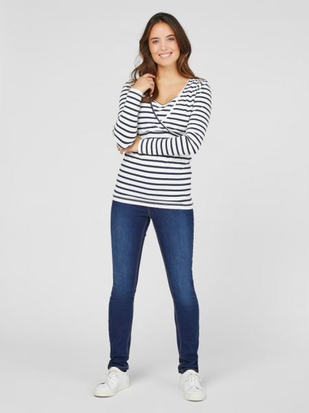 set-bluze-alaptare-din-bumbac-organic-tess-albastru-marin-alb 1