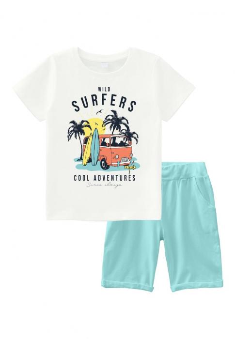 set-pantaloni-scurti-si-tricou-name-it-vebo-white 0