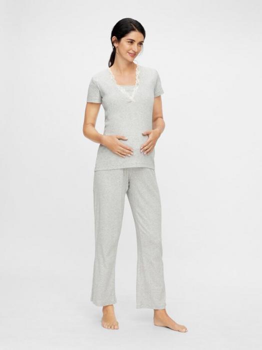 set-pijama-bluza-si-pantalon-bumbac-organic-mamalicious-amaja 0