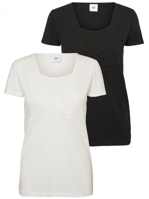 Set tricouri alaptare din bumbac organic Mamalicious Tess 0