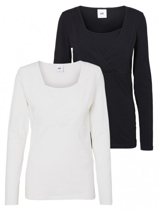 set-2-bluze-alaptare-din-bumbac-organic-tess-alb-negru 0