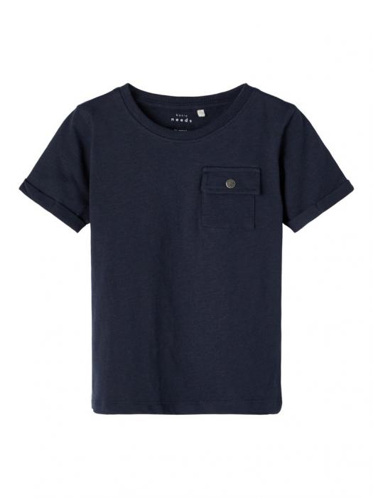 tricou-copii-bumbac-organic-baieti-name-it-vebbe-sapphire 0