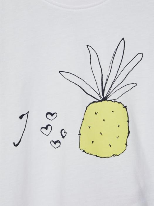 tricou-copii-bumbac-organic-fete-name-it-vigea-alb 2